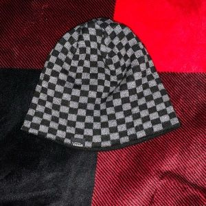 Vans beanie checkered used great condition